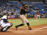 Sep 20, 2013, Baltimore Orioles vs Tampa Bay Rays - Adam Jones Photographic Print by Al Messerschmidt
