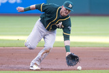 May 17, 2014, Oakland Athletics vs Cleveland Indians - Josh Donaldson Photographic Print by Jason Miller