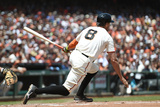 Jun 15, 2014, Colorado Rockies vs San Francisco Giants - Hunter Pence Photographic Print by Thearon W. Henderson