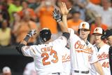 Jun 25, 2014, Chicago White Sox vs Baltimore Orioles - Nelson Cruz, Chris davis Photographic Print by Mitchell Layton