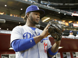 Apr 13, 2014, Los Angeles Dodgers vs Arizona Diamondbacks - Hanley Ramirez Photographic Print by Christian Petersen