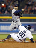 May 5, 2014, Houston Astros vs Detroit Tigers - Jose Altuve, Ian Kinsler Photographic Print by Duane Burleson