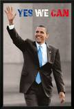 President Barack Obama (Yes We Can, Waving) Art Poster Print Print
