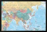 Middle East and Asia map Prints