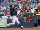 Aug 3, 2013, Washington Nationals vs Milwaukee Brewers - Carlos Gomez Photographic Print by Tom Lynn