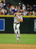 Apr 25, 2014, Philadelphia Phillies vs Arizona Diamondbacks - Chase Utley Photographic Print by Norm Hall