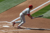 Apr 20, 2014, Philadelphia Phillies vs Colorado Rockies - Chase Utley Photographic Print by Doug Pensinger