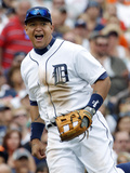Jun 9, 2013, Cleveland Indians vs Detroit Tigers - Miguel Cabrera Photographic Print by Duane Burleson