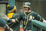 May 16, 2014, Oakland Athletics vs Cleveland Indians - Josh Donaldson Photographic Print by Jason Miller