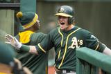 May 16, 2014, Oakland Athletics vs Cleveland Indians - Josh Donaldson Photographic Print by Jason Miller