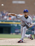 May 22, 2014, Texas Rangers vs Detroit Tigers - Yu Darvish Photographic Print by Duane Burleson