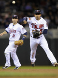 May 16, 2014, Seattle Mariners vs Minnesota Twins - Brian Dozier, Eduardo Escobar Photographic Print by Hannah Foslien