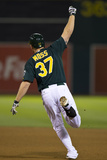 Aug 19, 2013, Seattle Mariners vs Oakland Athletics - Brandon Moss Photographic Print by Jason O. Watson
