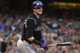 Jun 13, 2014, Colorado Rockies vs San Francisco Giants - Troy Tulowitzki Photographic Print by Thearon W. Henderson
