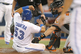Apr 24, 2014, Baltimore Orioles vs Toronto Blue Jays - Matt Wieters, Melky Cabrera Photographic Print by Tom Szczerbowski