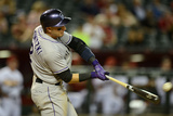 Apr 28, 2014, Colorado Rockies vs Arizona Diamondbacks - Troy Tulowitzki Photographic Print by Norm Hall