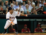 Jun 3, 2014, Los Angeles Angels of Anaheim vs Houston Astros - Jose Altuve Photographic Print by Scott Halleran