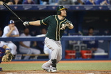 May 23, 2014, Oakland Athletics vs Toronto Blue Jays - Brandon Moss Photographic Print by Tom Szczerbowski