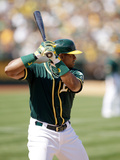 Apr 19, 2014, Houston Astros vs Oakland Athletics - Yoenis Cespedes Photographic Print by Ezra Shaw
