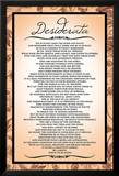 Desiderata, Englisch Poster