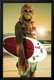 Star Wars - Chewbacca Surfer Kunstdrucke