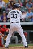 Apr 20, 2014, Philadelphia Phillies vs Colorado Rockies - Justin Morneau Photographic Print by Doug Pensinger