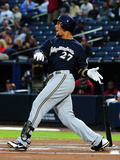 Sep 25, 2013, Milwaukee Brewers vs Atlanta Braves - Carlos Gomez Photographic Print by Scott Cunningham