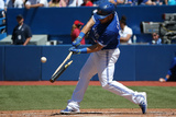 Jun 1, 2014, Kansas City Royals vs Toronto Blue Jays - Melky Cabrera Photographic Print by Tom Szczerbowski
