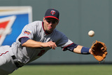 Apr 19, 2014, Minnesota Twins vs Kasnas City Royals - Brian Dozier Photographic Print by Ed Zurga