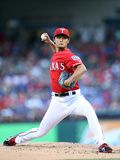 Jun 6, 2014, Cleveland Indians vs Texas Rangers - Yu Darvish Photographic Print by Rick Yeatts