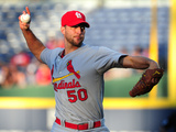 May 7, 2014, St. Louis Cardinals vs Atlanta Braves - Adam Wainwright Photographic Print by Scott Cunningham
