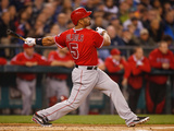 Apr 8, 2014, Los Angeles Angels of Anaheim vs Seattle Mariners - Albert Pujols Fotografisk tryk af Otto Greule Jr