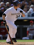 Apr 4, 2014, Arizona Diamondbacks vs Colorado Rockies - Justin Morneau Photographic Print by Doug Pensinger