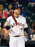 Apr 17, 2014, Kansas City Royals vs Houston Astros - Jose Altuve Photographic Print by Scott Halleran
