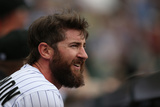 Apr 23, 2014, San Francisco Giants vs Colorado Rockies - Charlie Blackmon Photographic Print by Doug Pensinger