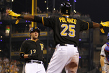 Jun 27, 2014, New York Mets vs Pittsburgh Pirates - Gregory Polanco, Clint Barmes Photographic Print by Justin K. Aller
