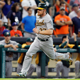 Apr 27, 2014, Oakland Athletics vs Houston Astros - Brandon Moss Photographic Print by Bob Levey