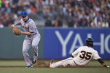 Jun 7, 2014, New York Mets vs San Francisco Giants - Brandon Crawford, Daniel Murphy Photographic Print by Jason O. Watson