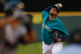 Jul 26, 2013, Minnesota Twins vs Seattle Mariners - Felix Hernandez Photographic Print by Otto Greule Jr