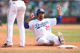 Mar 23, 2014, Los Angeles Dodgers vs Arizona Diamondbacks - Adrian Gonzalez Photographic Print by Mark Kolbe