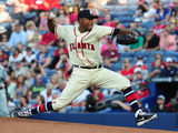 May 3, 2014, San Francisco Giants vs Atlanta Braves - Julio Teheran Photographic Print by Scott Cunningham