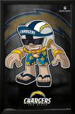 San Diego Chargers - Rusher Mascot NFL Sports Poster Plakater