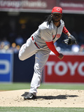 Jul 2, 2014, Cincinnati Reds vs San Diego Padres - Johnny Cueto Photographic Print by Denis Poroy