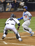 Jun 20, 2014, Los Angeles Dodgers vs San Diego Padres - Hanley Ramirez, Yasmani Grandal Photographic Print by Denis Poroy