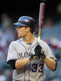 Apr 30, 2014, Colorado Rockies vs Arizona Diamondbacks - Justin Morneau Photographic Print by Christian Petersen