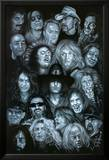 Metal Heroes (Ozzy Scott Ian Metallica Lemmy David Lee Roth Van Halen Led Zeppelin ) Poster Kunstdrucke