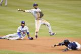 Jun 21, 2014, Los Angeles Dodgers vs San Diego Padres - Everth Cabrera, Dee Gordon Photographic Print by Denis Poroy