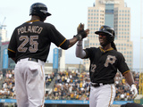 Jun 10, 2014, Chicago Cubs vs Pittsburgh Pirates - Andrew McCutchen, Gregory Polanco Photographic Print by Justin K. Aller