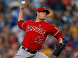 Aug 23, 2013, Los Angeles Angels of Anaheim vs Seattle Mariners - Garrett Richards Photographic Print by Otto Greule Jr