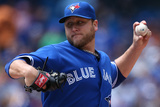 Jun 8, 2013, Texas Rangers vs Toronto Blue Jays - Mark Buehrle Photographic Print by Tom Szczerbowski